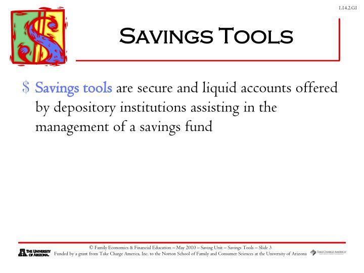 Savings tools1