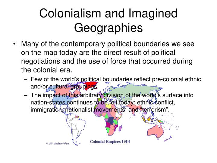 Colonialism and Imagined Geographies