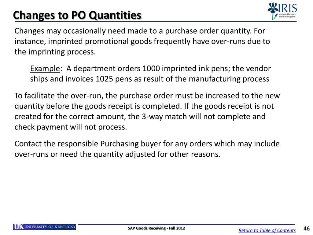 PPT - SAP Goods Receiving Goods Receiver MM_REC_320 PowerPoint