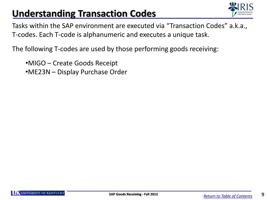 PPT - SAP Goods Receiving Goods Receiver MM_REC_320