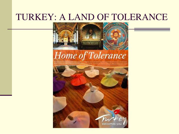 turkey a land of tolerance n.