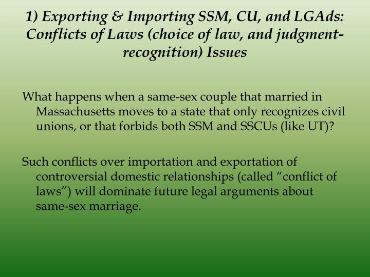 1) Exporting & Importing SSM, CU, and