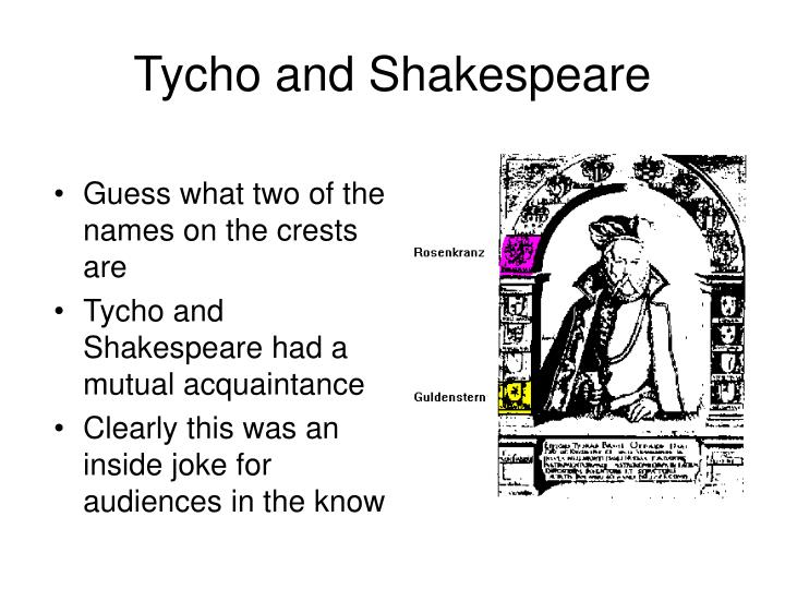 Tycho and Shakespeare
