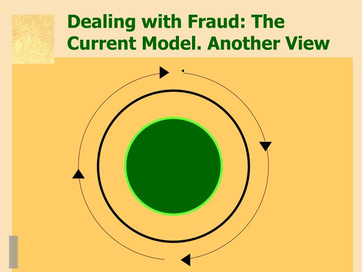 Dealing with Fraud: The Current Model. Another View