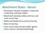 attachment styles secure