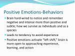 positive emotions behaviors