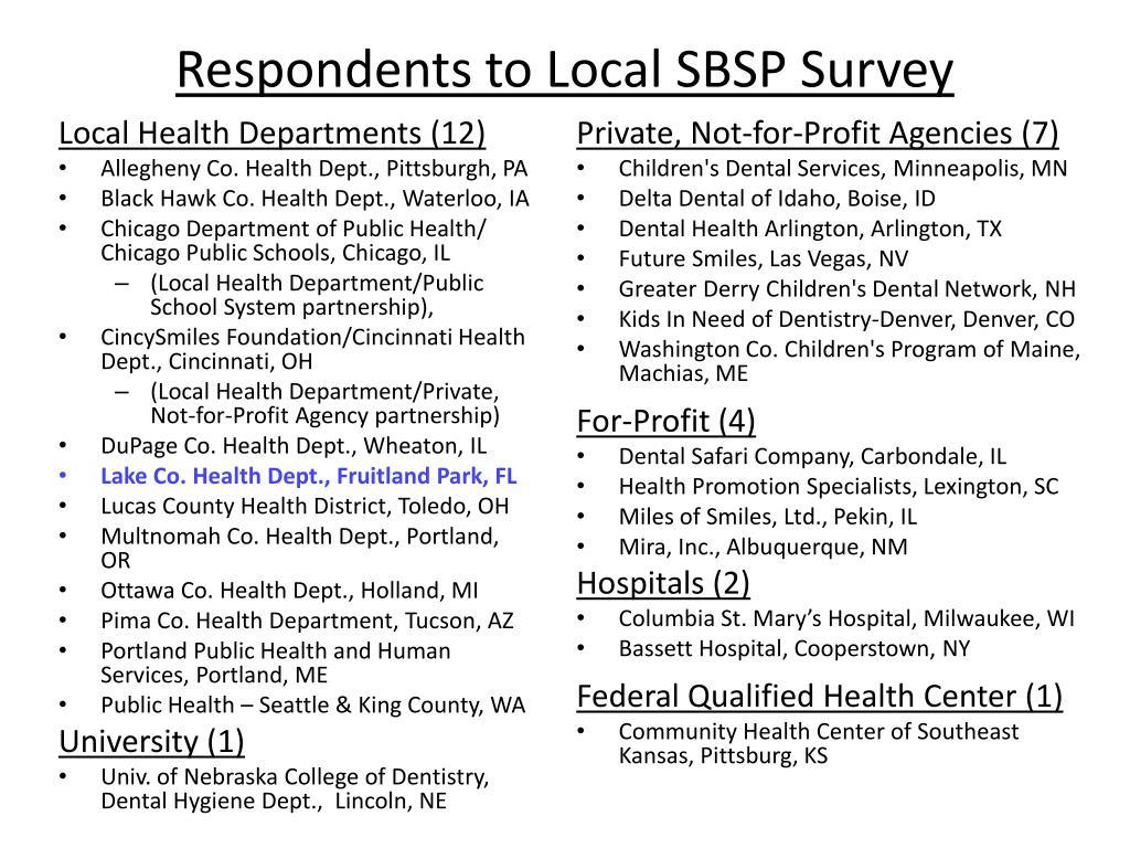 PPT - School-Based Dental Sealant Programs in the United