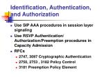 identification authentication and authorization