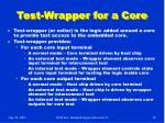 test wrapper for a core