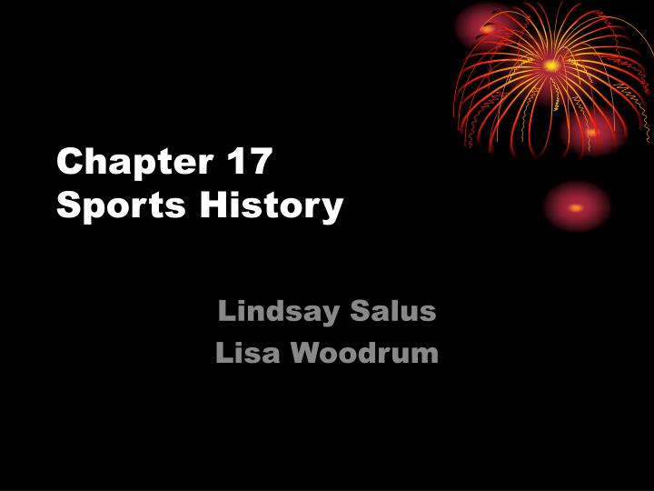 chapter 17 sports history n.