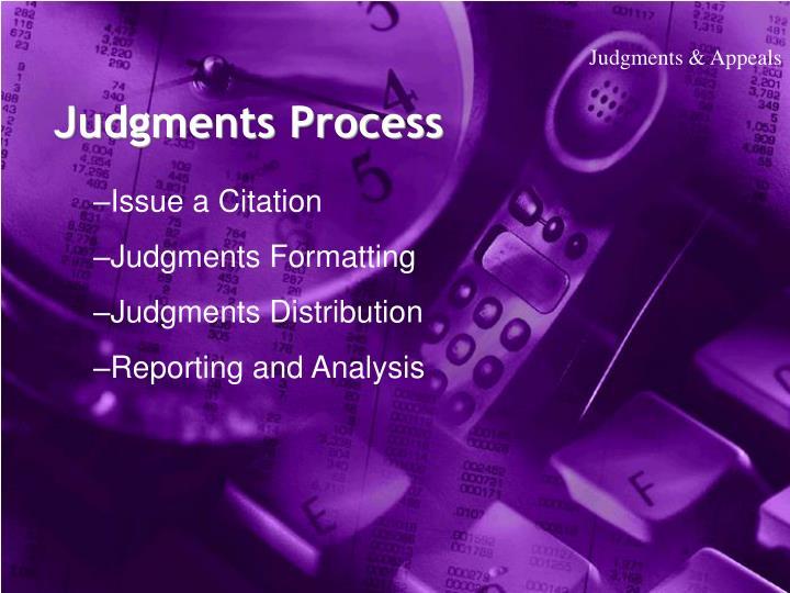 Judgments & Appeals