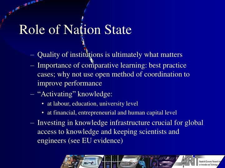 the importance of economy for a nation Education and economic growth  in school to what subsequently happens in a nation's economy  of the importance of education quality to economic growth.