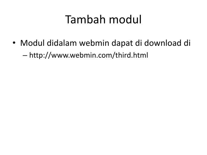 Tambah modul