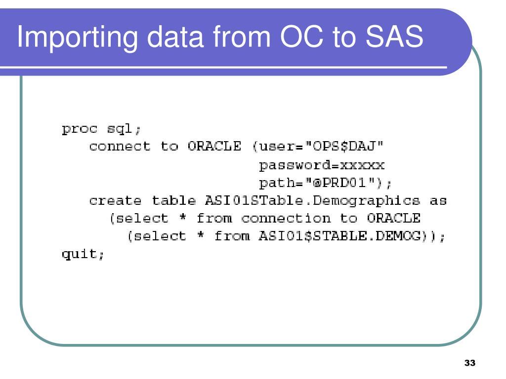 PPT - Module 5: SAS/SQL PowerPoint Presentation - ID:3128304