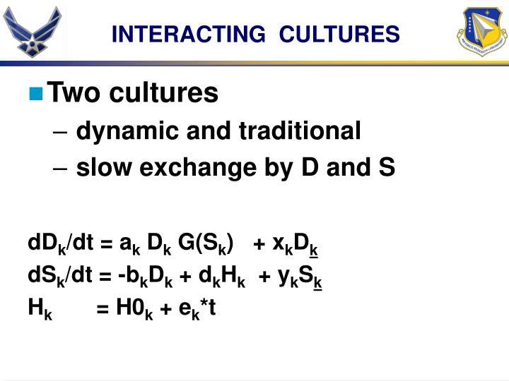 INTERACTING  CULTURES