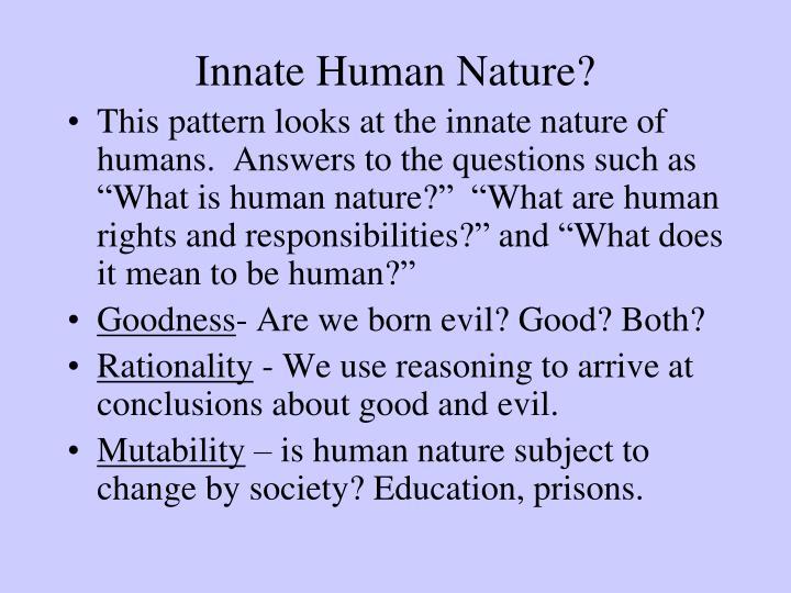 Innate Human Nature?