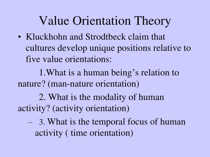 Value Orientation Theory