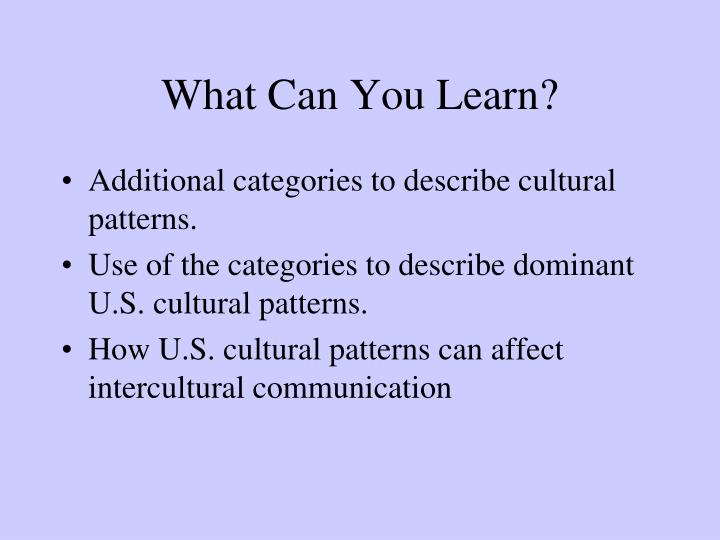 What can you learn