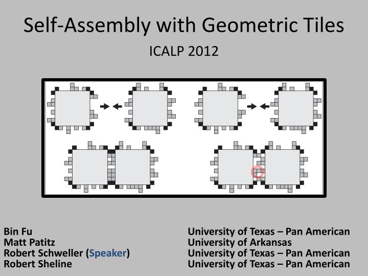 self assembly with geometric tiles n.