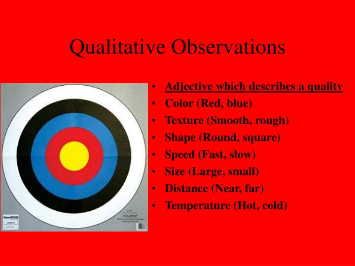 PPT - Biology Chapter 1 PowerPoint Presentation - ID:3128508 Qualitative Observations