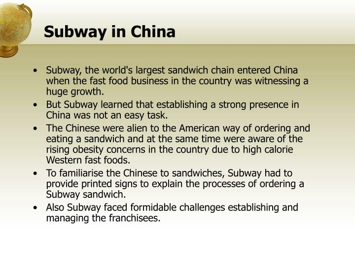 threats to subway s intellectual property in china Sony patent case shows how legal the potential ban on exports is the real threat, given china's pivotal role in a hong kong-based intellectual property.