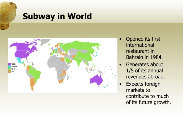 subway franchising and china To reach the above objective, the subway franchising concept, the market situation, the customers and the competitive situation will be  subway market research .