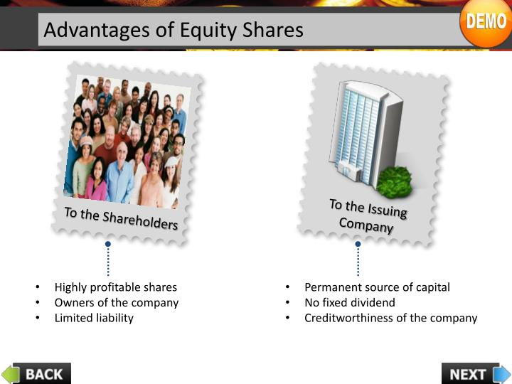 Advantages of Equity Shares