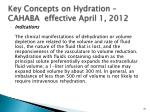 key concepts on hydration cahaba effective april 1 2012