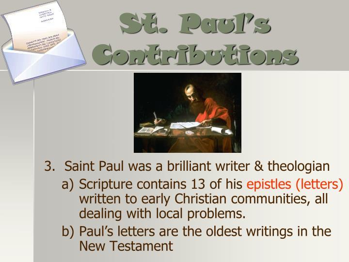 St. Paul's Contributions