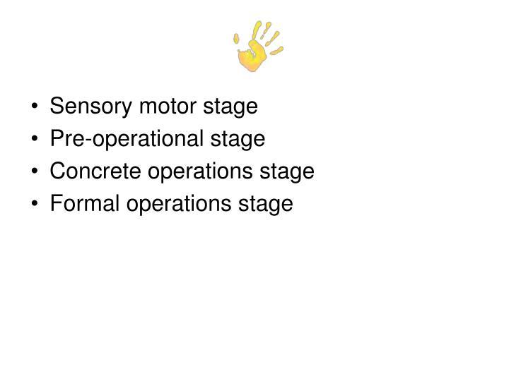 Sensory motor stage