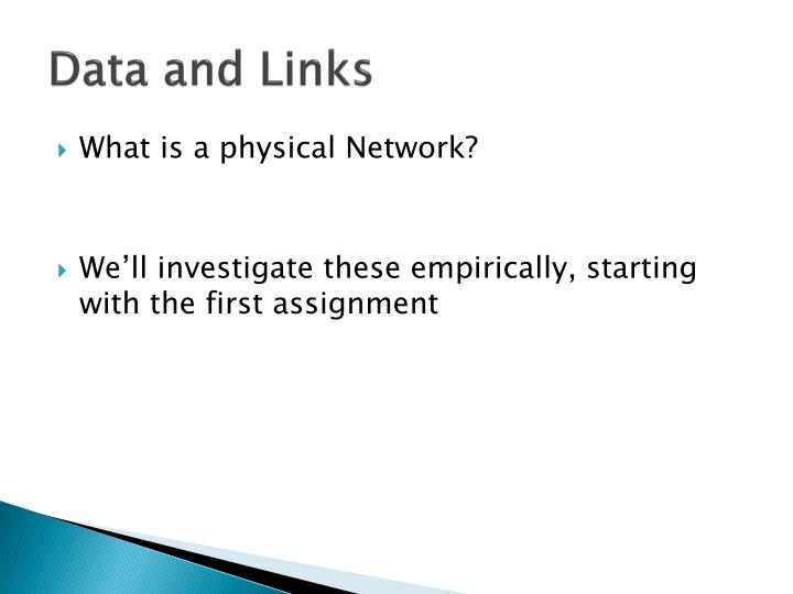 Data and Links