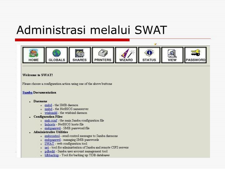 Administrasi melalui SWAT