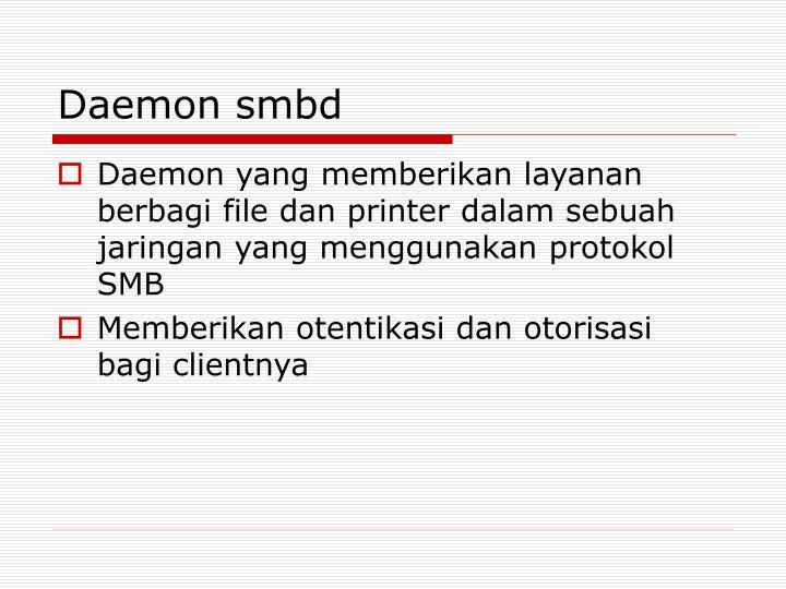 Daemon smbd