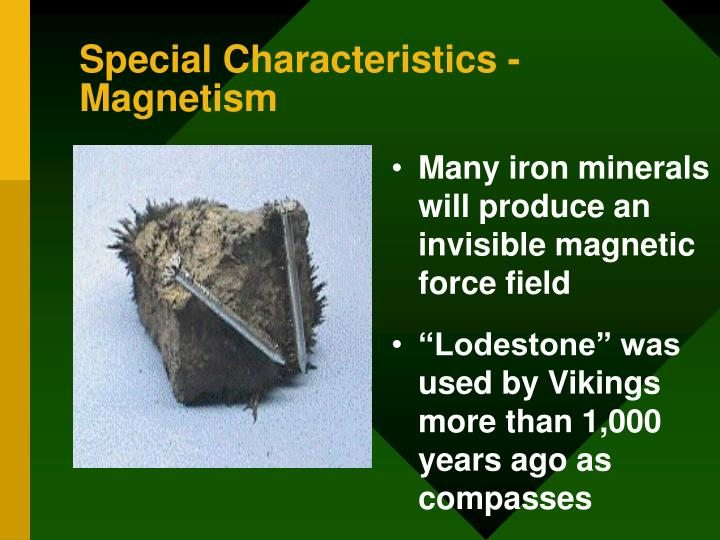 Special Characteristics -