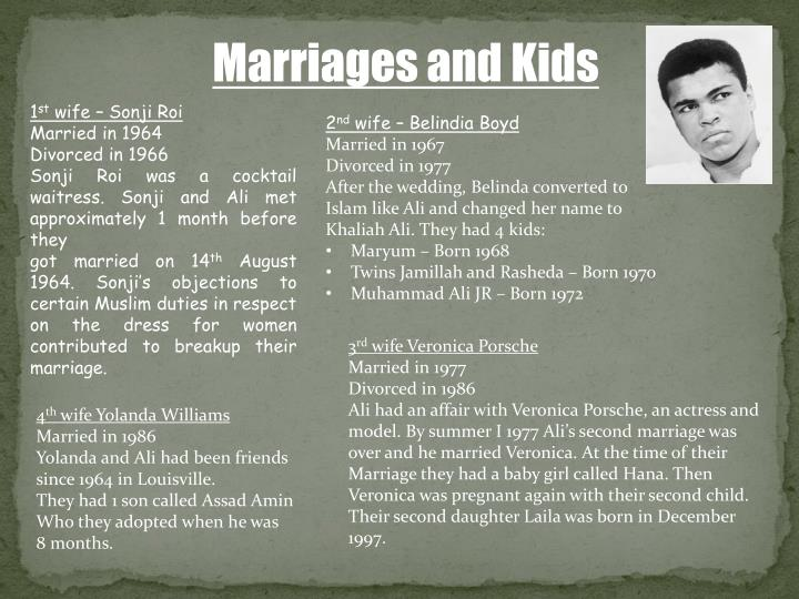 Marriages and Kids