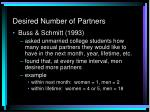 desired number of partners