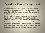 sound and power management