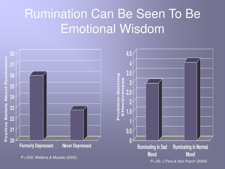 Rumination Can Be Seen To Be Emotional Wisdom