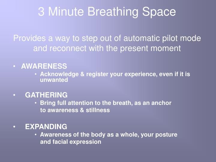 3 Minute Breathing Space