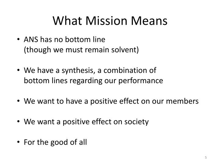 What Mission Means