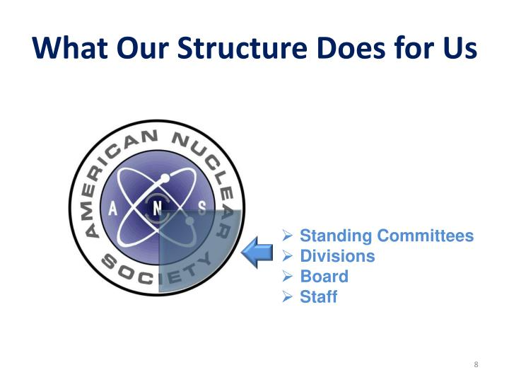 What Our Structure Does for Us