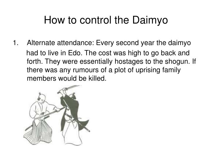 How to control the Daimyo