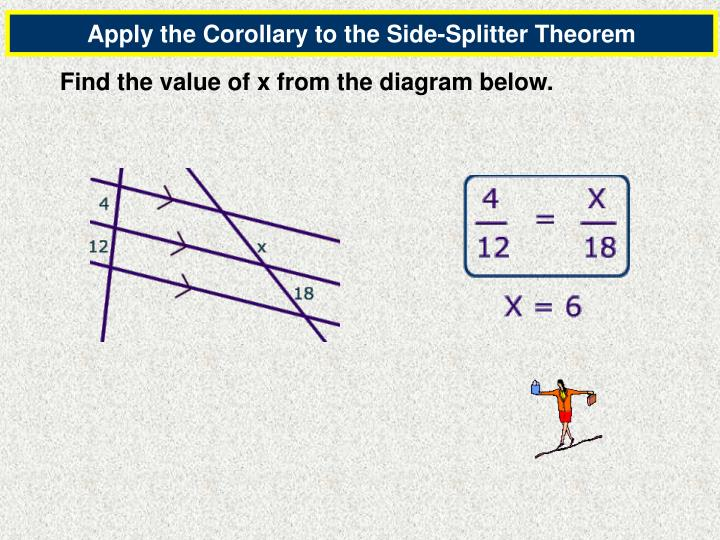 Apply the Corollary to the Side-Splitter Theorem