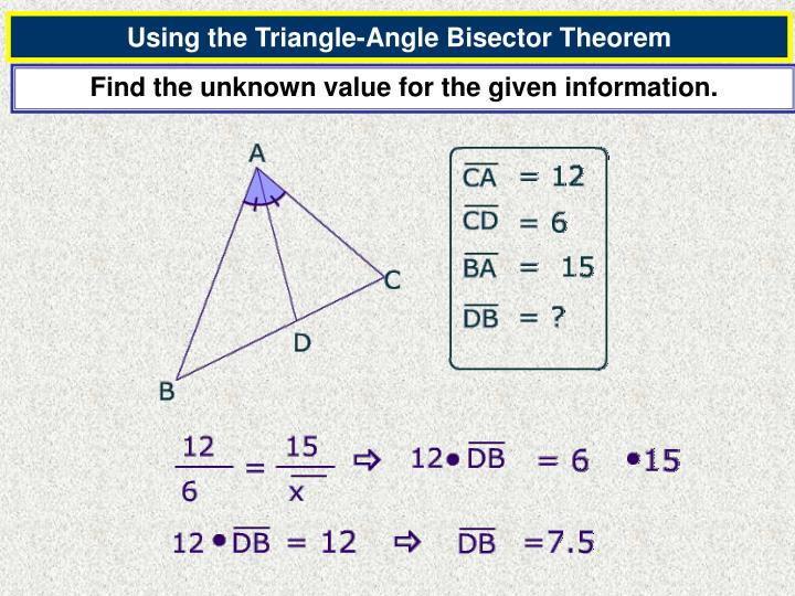 Using the Triangle-Angle Bisector Theorem