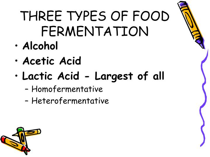 three types of food fermentation n.