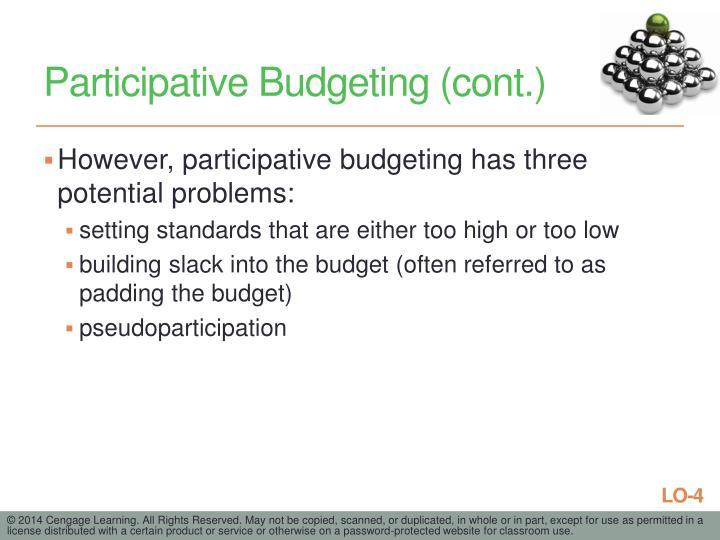 Participative Budgeting (cont.)