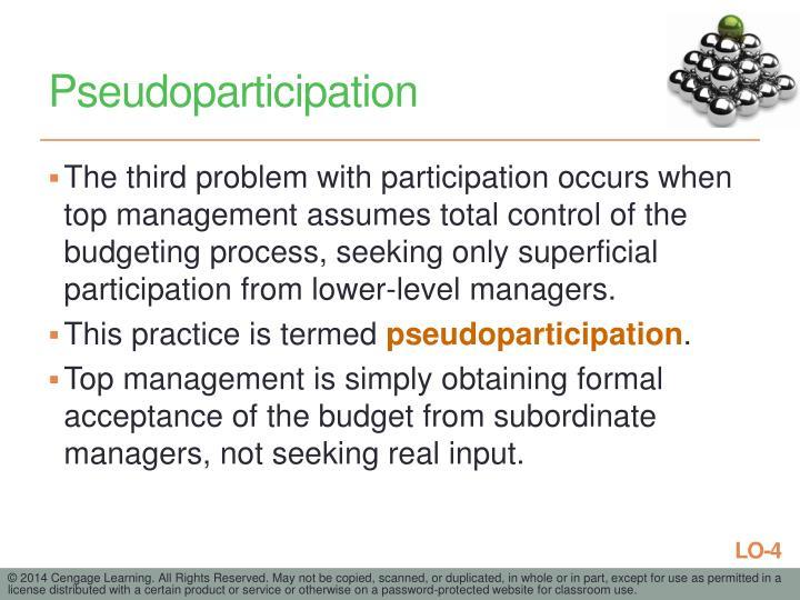 Pseudoparticipation