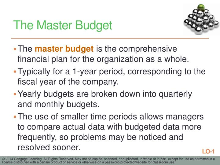 The Master Budget