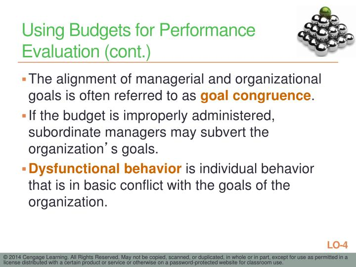 Using Budgets for Performance Evaluation (cont.)