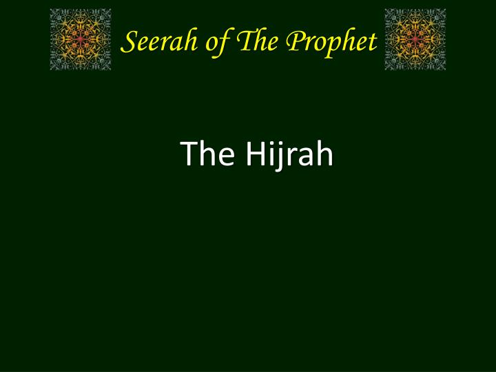 seerah of the prophet n.